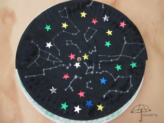 night sky paper plate craft for kids