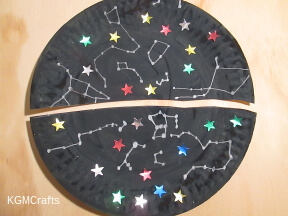 paint a plate black add stars