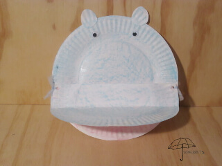 easy paper plate hippo