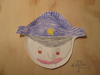 paper plate police officer