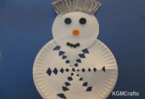 make a paper plate snowman
