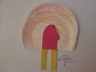 paper plate turkey