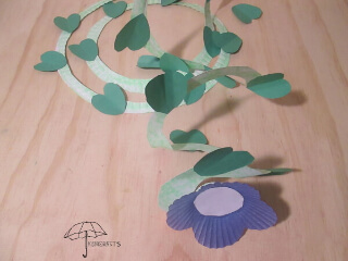 vine flower craft