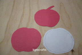 draw and cut apple shapes