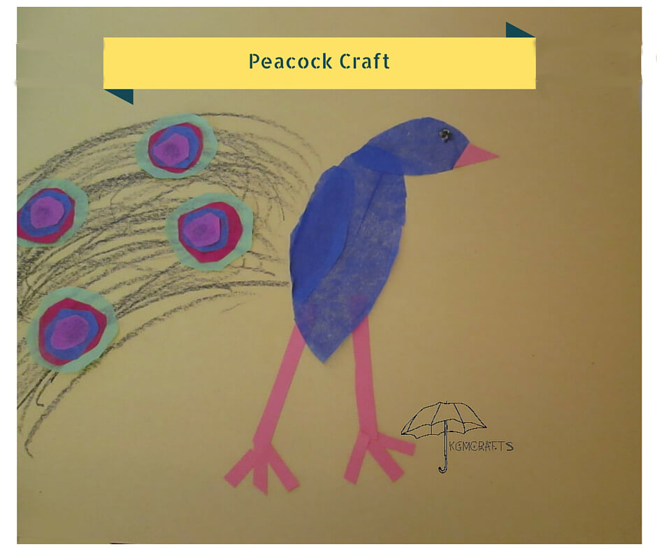 peacock craft for kids