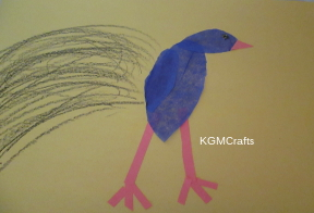 color the tail feathers