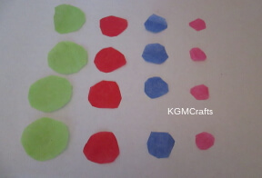 cut tissue paper circles