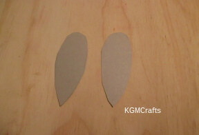 cut ears from cardboard