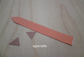 cut two triangles