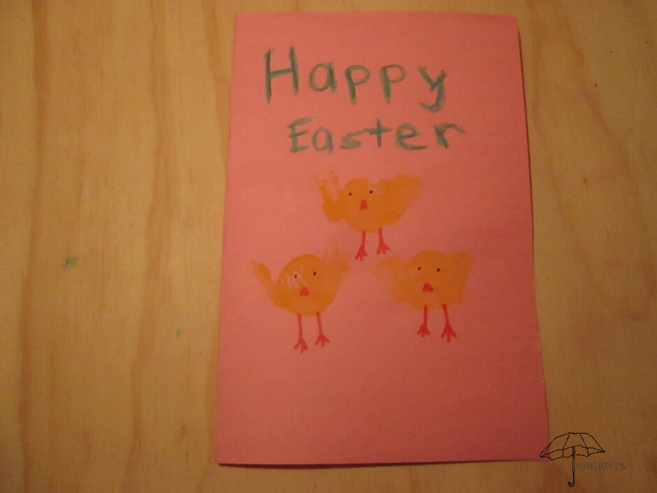 painted chicks Easter card