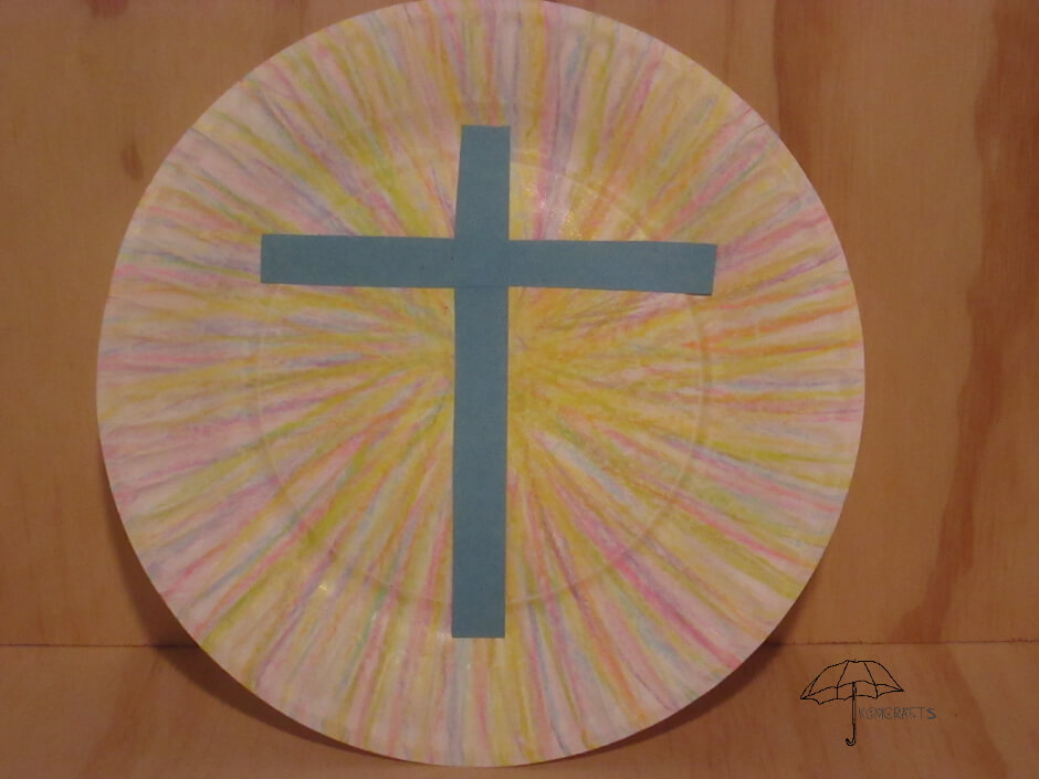 Sunburst Easter Cross