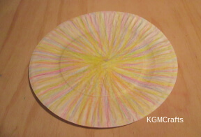 color the paper plate