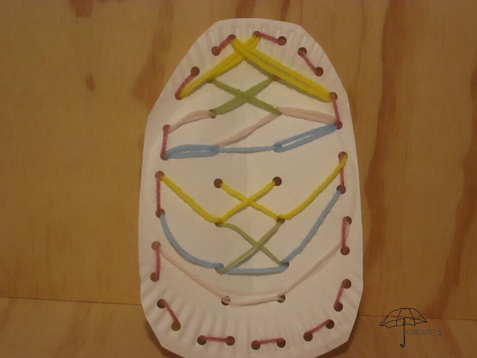 lacing card egg