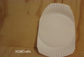 make an egg shape from a paper plate