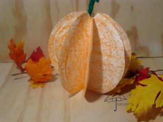 3d paper plate pumpkin