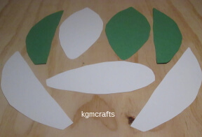 cut out the paper pieces