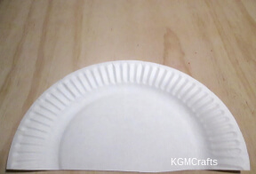 cut your paper plate so that it is 5 inches