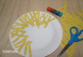 cover plate with yellow paper strips