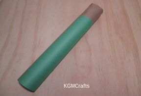 cover roll with green paper