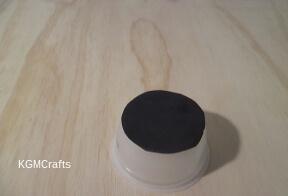 glue black paper to cup