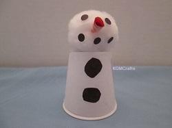 paper cup snowman