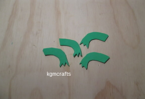 cut feet from craft foam