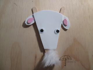Popsicle stick goat