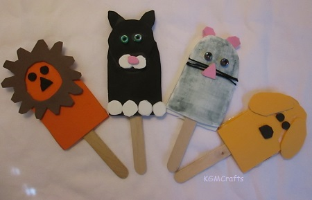 puppets made with popsicle sticks