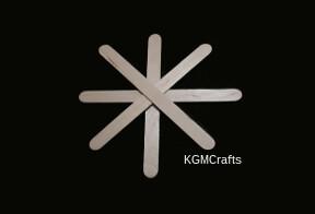 add craft sticks to make shape