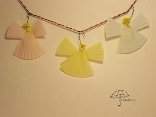 cupcake liner angels