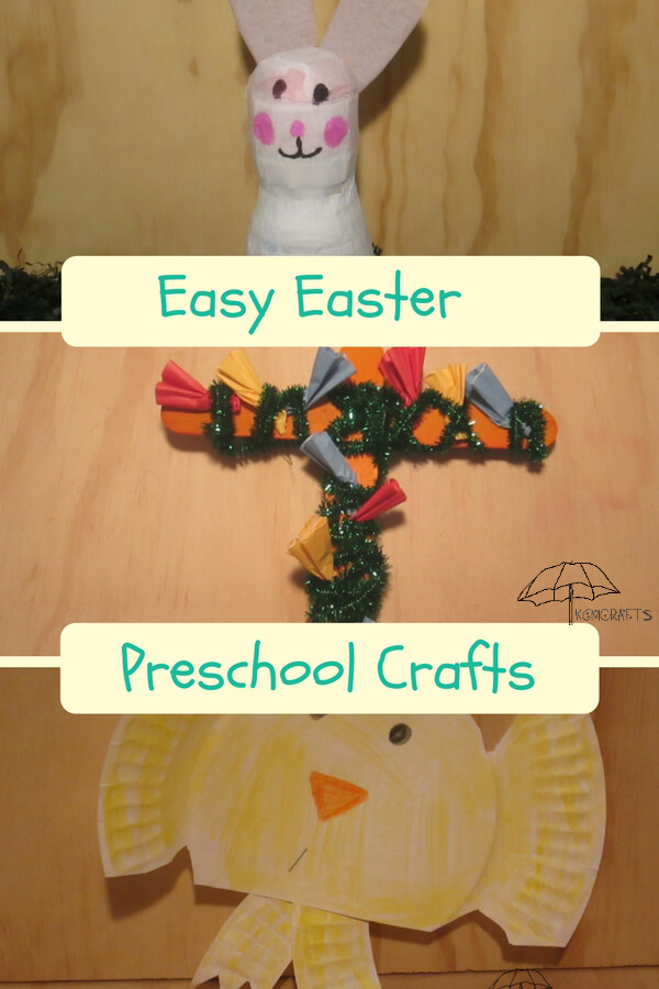 Easy to make preschool Easter crafts.