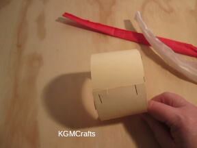 cut a piece of cardboard and roll some tissue paper
