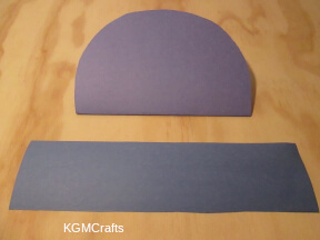 cut a strip of paper and a rounded shape