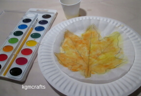 paint the leaf