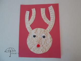paper plate deer