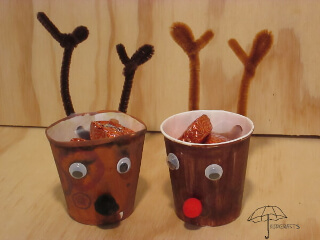 reindeer treat containers