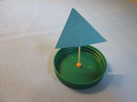 green sailboat