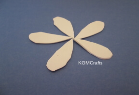 arrange craft foam tear drops