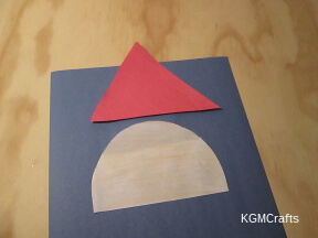 cut a triangle and a half circle
