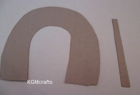 cut cardboard pieces