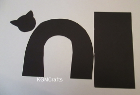 cut out cat pieces
