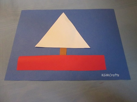 sailboat made with shapes
