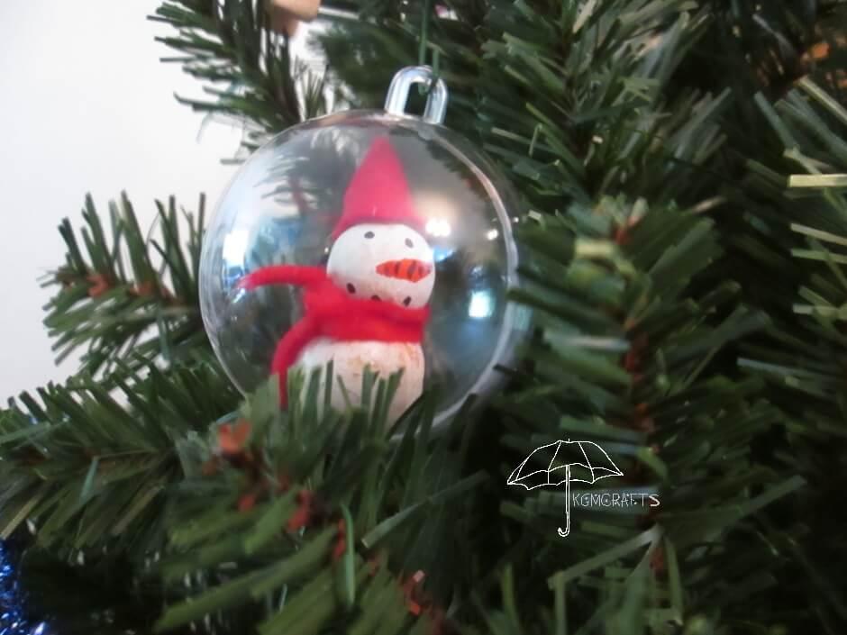 snowman in ball