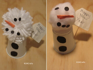 tabletop snowman