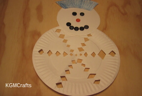 link to paper plate snowman