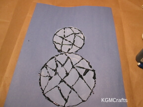 draw lines inside the circle then go over with black glue