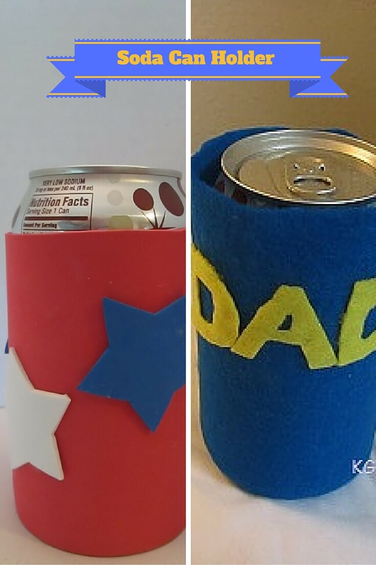 two soda can holders