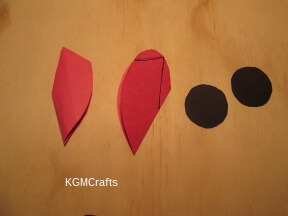 cut pieces out of construction paper