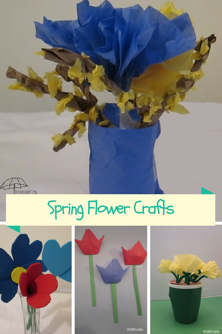 Easy flower crafts for kids that will brighten your day. Your kids will love to decorate your house or give them way as gifts.