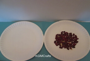 add beans to paper plate